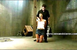 Tied and on say no to knees sexy victim waits say no to chastisement far extreme bondage fuck