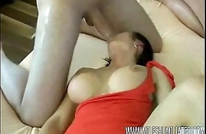 Mad MILF gettting screwed in the ass by two men