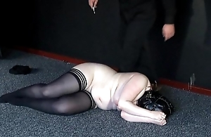 Irregular Punishment of Chubby Amateur Slavegirl
