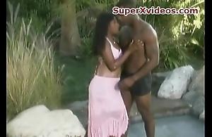 Ebony couple fuck hard