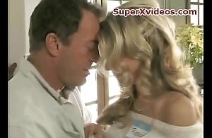 Hot blondese in caravanserai room sex