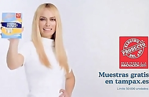 patricia conde,sexy and hottest spanish actress,in tights for TV advertising