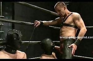 Skiny uncaring fucked in brutal bondage sex