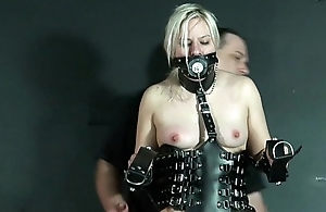 Bizarre Leather Punishment Be advantageous to Teen Blonde Chaos In Unseeable Depravation