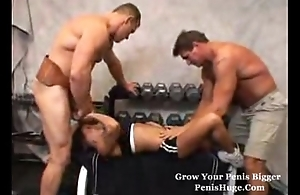 sexy infant Threesome connected with studs