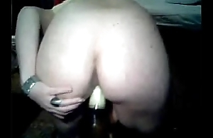 horny haired girl beer dominant pussy and ass  !!!