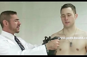 Strong big gay man fucked in bdsm making love