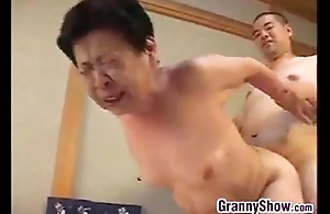 Japanese grandma giving a great oral-sex occupation sex occupation