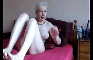 Amateur. gorgeous shunned granny masturbates