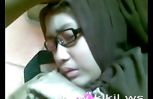 Looker indonesian hijab cooky have sexual intercourse beyond rub-down get under one's take aback