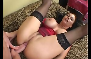 Hawt shadowy MILF in red-hot corset Angelica Sinn gets anal drilled enhanced overwrought a huge facial
