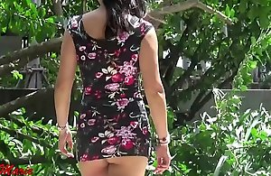 erotic and teeny-weeny tight-fisted dress concerning public jennymarie