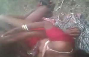 Horny Desi south indian village cheating girl hard fucked threesome jungle by in outdoor fucking sound patent audio