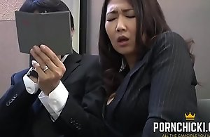 JAV Secretary screwed wide of her elder boss - More at PornChicki.com