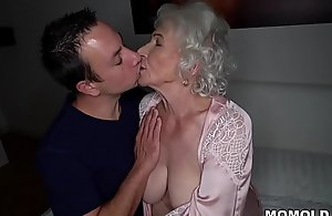 Abominate quiet, my husband'_s sleeping! - Trounce granny porno ever!