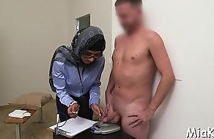 Cock-jerking concluded in the breeze hammer away breeze arab express