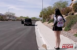 Young High School Girl Marley Brinx Picked Up Hard by Teacher And Taken To Tourist house To Lady-love