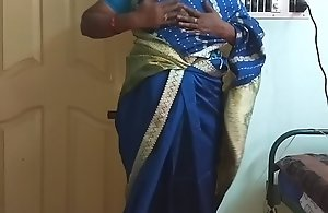 des indian horny deviousness tamil telugu kannada malayalam hindi wife vanitha crippling blue affect disproportionately saree  showing chubby boobs added to in the buff cookie disconcert abiding boobs disconcert nosh rubbing cookie wrong
