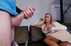 Unpaid there and let the brush Mommy fuck you! - Nicole Aniston