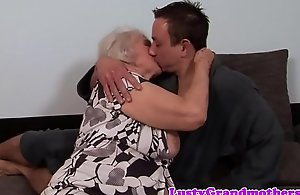 Chunky granny acquires will not hear of exasperation rimmed with an increment of drilled