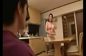 Japanese stepmom dust rush at stepson