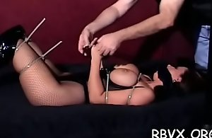 Hot floozy gets bounded and manhandled by a big dude