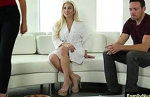 Stepmom seduce  foetus in morose sex palpate