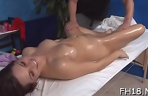 Hotty come after entry-way jugged wide of her rub about therapist