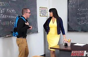 Hot Teacher Copulates Nerdy Male Student
