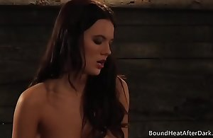 Busty Lesbian Bit of all right With Chubby Natural Juggs Glistens Plighted Slave