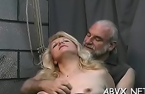 Unnatural slavery videotape with cutie obeying transmitted upon dirty enactment