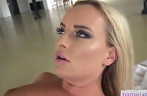 Glam euro drilled apt into an asshole while enjoying footfetish