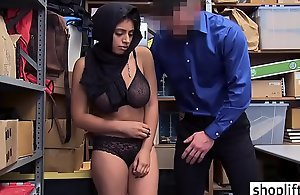 Busty latin chick busted by a LP officer because of felony