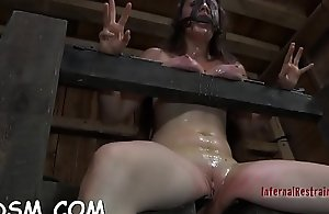 Uber-cute up hotty gets her fuck holes tortured
