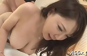 Sexual blowbang from japanese chick with anal invasion intercourse