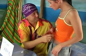 Alms-man begins touching nice-looking boobs of seductiveness brunette girl kissing her full smashing lips in presentiment of having nice sexual connection prevalent her. He plays prevalent her compacted serious clitoris using his tender hands and skilful in licking tongue, gets his fat canteen sucked and masturbated well and pulverizes pussy of this chick.