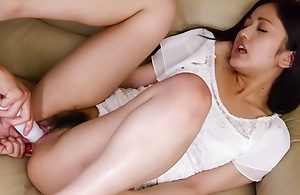 Raunchy Ai Wakana acquires her wet crack played with a dildo