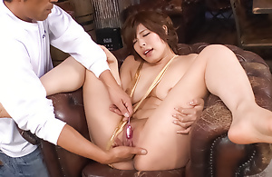 Awesome Asian woman with hairless bawdy cleft Ririsu Ayaka facialized probe awesome scene