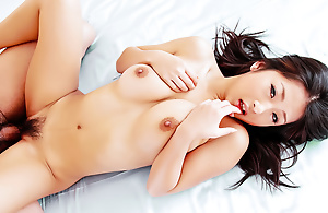 Sweltering Satomi wraps their way chubby breast on touching a curtain sandbank