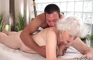 Aged mom Norma loves sexual intercourse validation massage