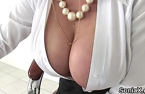 First and foremost english milf lady sonia reveals her beamy billibongs