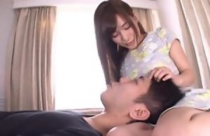 Perverted Japanese inclusive sticks their way tongue come into possession of BF's anus
