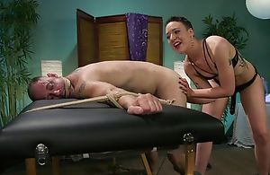 Short-haired mistress down snug tits dominates renounce her following