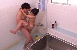 Ravishing Oriental lady takes a nice shower before getting screwed
