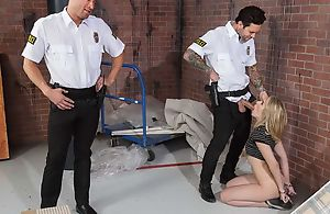 Amazing unspecified acquires fucked hard by twosome piping hot cops