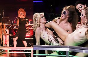 Several greatest girls having ludicrous lesbian orgy