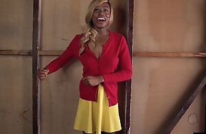 Blonde ebony about fine chest gets her cocoa pussy plowed