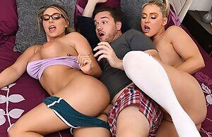 Kyle bangs several remarkable bazaar women in purfle
