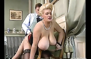 Big tit tow-headed BBW gets a complying bonking