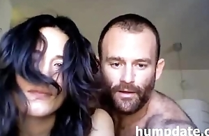 Horny amateur couple having sex primarily webcam